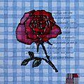 Carte d'anniversaire rose-vichy