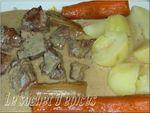 Blanquette de porc à la moutarde à l'ancienne