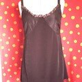 robe crpe noir/ruban  pois/taffetas noir