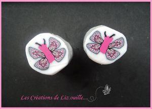 canes fleurs papillons