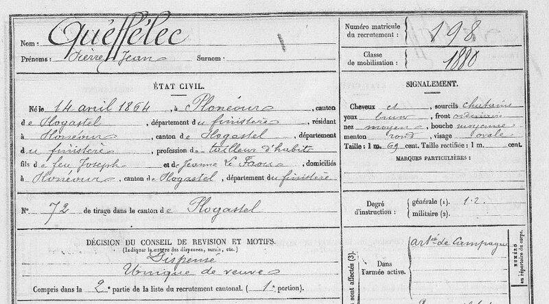 FM198 Bureau Quimper Pierre-Jean Queffelec classe 1884_1