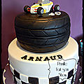Gateau kart cross - sport automobile