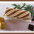 Bûche poire - chocolat