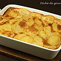 Gratin de pommes de terre au camembert