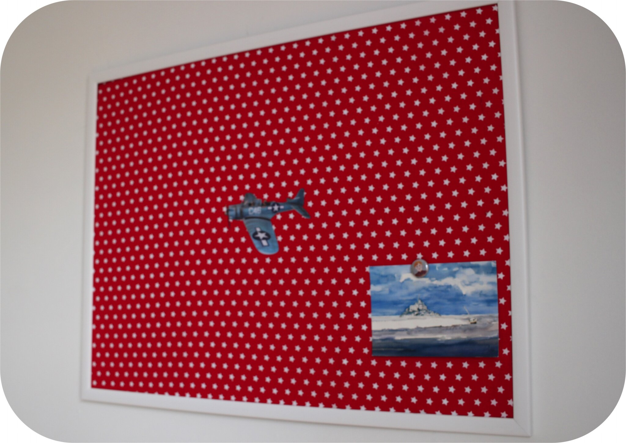 Tableau magn tique de biais photo de d co sweet and sew - Tableau magnetique photo ...
