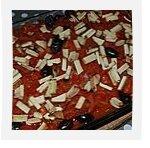 Gratin façon lasagnes de potimarron à la tomate, olives et tofu fumé sans gluten ni produits laitiers