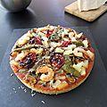 Pizza aux fruits de mer a la graine de couscous