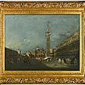 Francesco guardi (venice 1712 - 1793), venice, piazza san marco, looking east towards the basilica