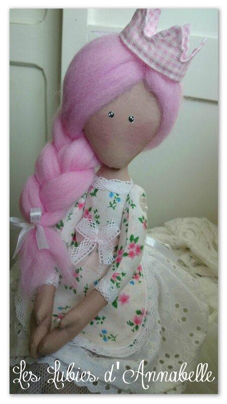 poupée shabby chic couronne printemps