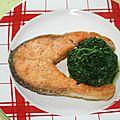 Darne de saumon meunière à la plancha