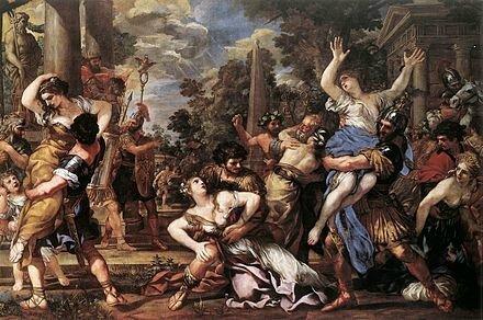 L'enlèvement des Sabines de Cortone, pinacothèque du Capitole