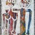 Couple 6.Technique mixte papier marouflé sur toile.2003.