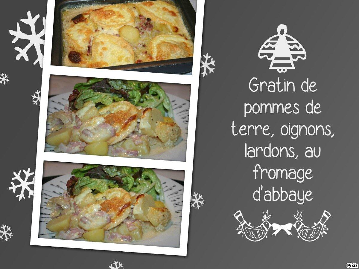 Gratin de pommes de terre oignons lardons au fromage d 39 abbaye tous en cuisine avec nadine - Gratin de pommes de terre au four ...