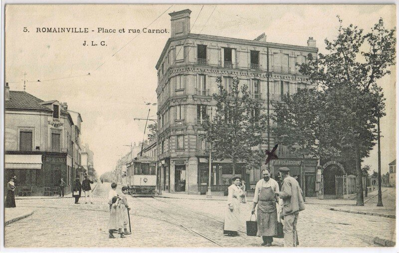 place carnot 2 romainville photo de cartes postales anciennes association de d fense du. Black Bedroom Furniture Sets. Home Design Ideas
