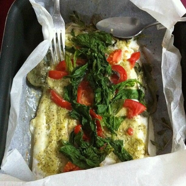 papillote poisson pesto