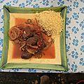 Ragout de boeuf aux raisins secs