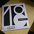 Carte invitation anniversaire, 18 ans