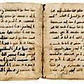 Exceptionnelles enchères pour des pages coraniques abbassides @ rennes enchères
