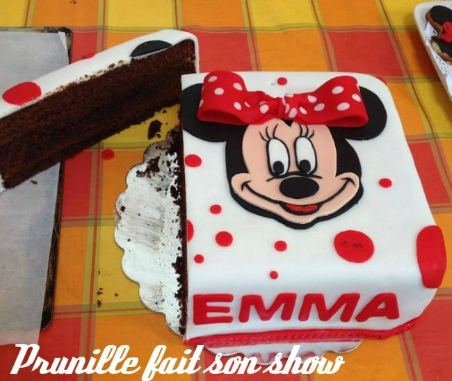 gateau minnie coupé 3 prunillefee