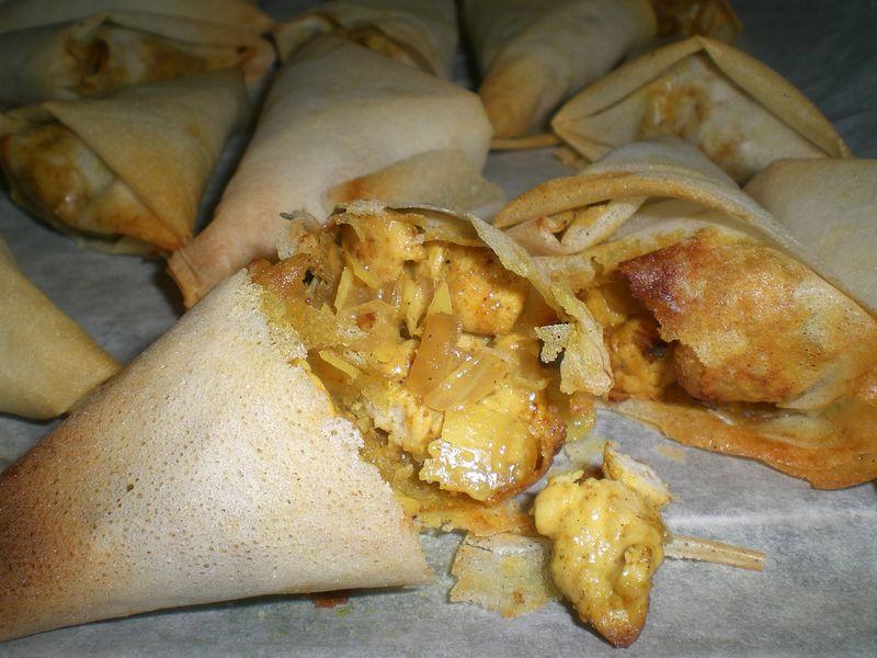 Bricks poulet curry manou et sa cuisine - Cuisiner feuille de brick ...