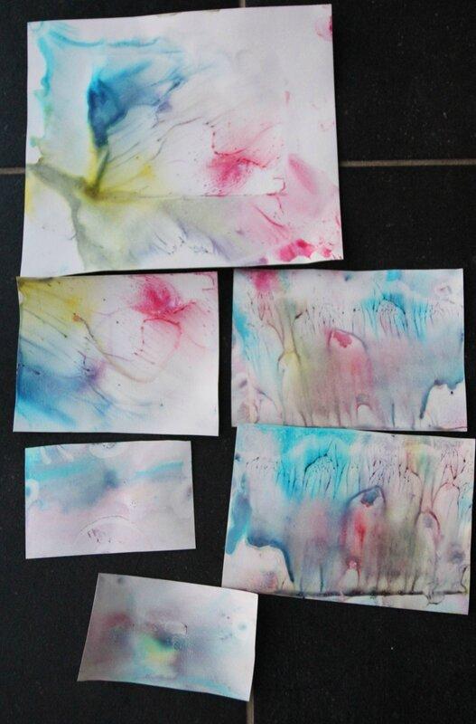 Lait magique et peinture magique