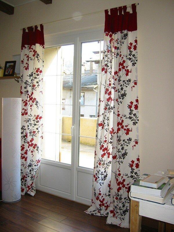 les rideaux du salon la maison des leymuriens. Black Bedroom Furniture Sets. Home Design Ideas