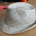 Chapeau, version paille et tricotin
