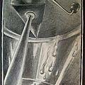 Vieux moulin à légumes manuel - Presse-purée - Accessoire de cuisine -Etude dessin mine de plomb brillance métallique G. Letourneur 1980