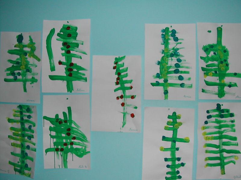 Exposition des oeuvres de la deuxieme periode maternelle - Noel petite section ...