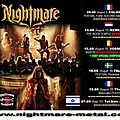 Afm presente / presents nightmare - concerts aout / sept 2012
