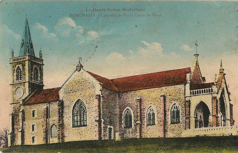 CPA Ronchamp Notre-Dame du Haut 1933