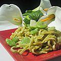 Pâtes aux fèves et aux asperges