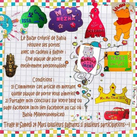 concours plaque de porte
