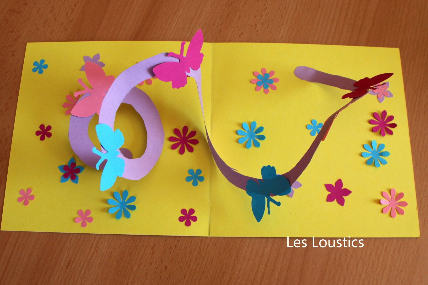 Carte pop up spirale les loustics - Carte pop up facile ...