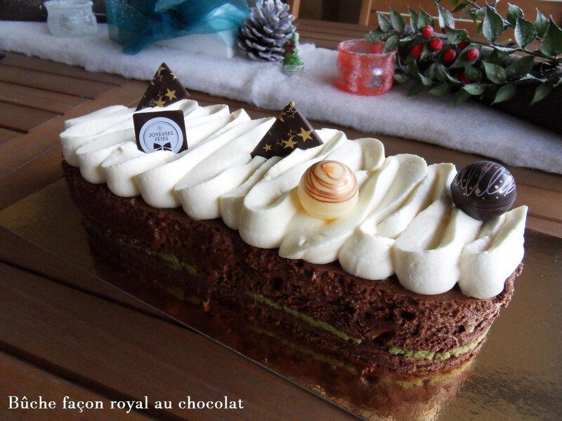 buche façon royal au chocolat1
