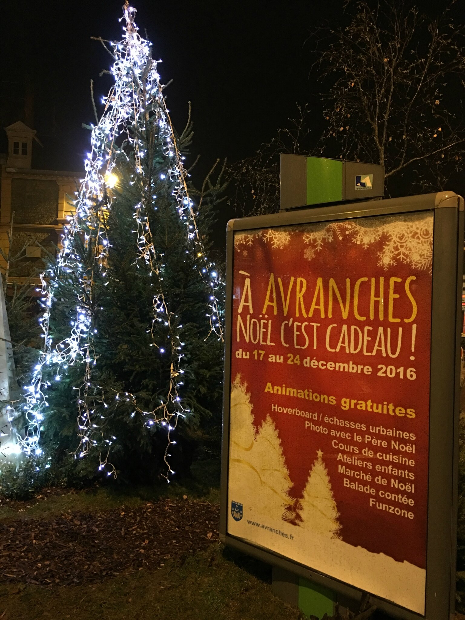 À Avranches, Noël c'est cadeau! - le programme des festivités 2016 - du 17 au 24 décembre 2016