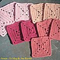 Pink square blanket #5
