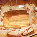 Cake au société créme et aux tomates cerises