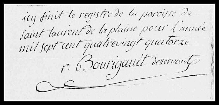 Bourigault signature