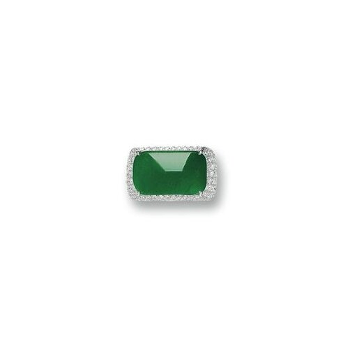 Jadeite and Diamond Ring 2