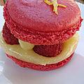 Macarons framboises et lemon curd light (creme de citron legere)