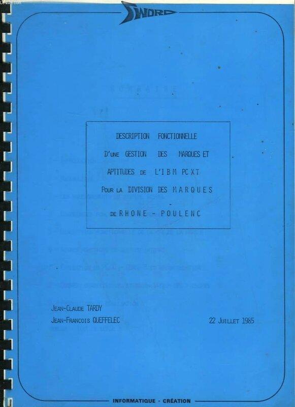 1985 Jean-François Queffelec chez IBM