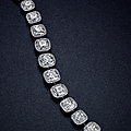 An important diamond bracelet, by harry winston