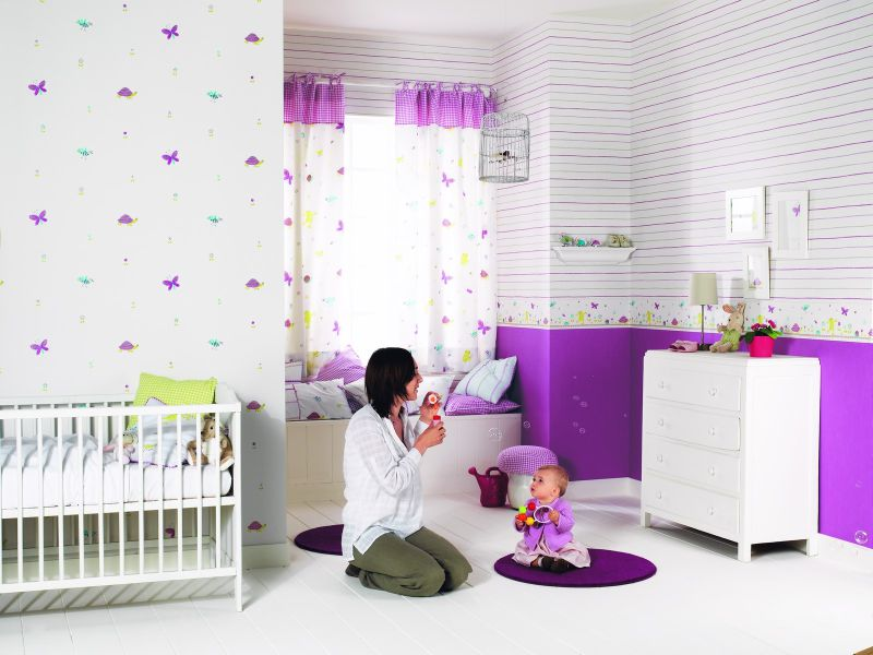 rideaux motifs papillon chambre de bebe happy  Photo de happy world