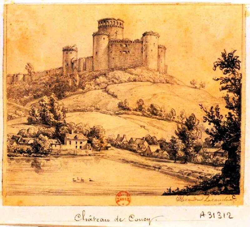 Coucy chateau dessin
