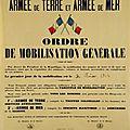 1er août 1914, 16h00, appel à la mobilisation générale, le tocsin sonne dans les communes