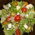Salade de caprice des dieux et de tomates cerises