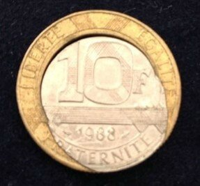 10 francs 1998 coeur d form eurorare monnaies faut es. Black Bedroom Furniture Sets. Home Design Ideas
