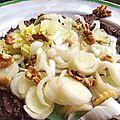 Salade d'endives à la tapenade et aux noix