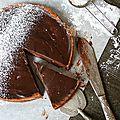 Tarte au chocolat et framboise à la pâte pain d'épices
